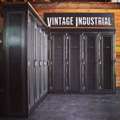 New design - Vintage Industrial lockers