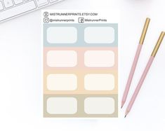 Stylish and Elegant Planner Stickers by MistrunnerPrints Personal Planners, Mini Hands, Weekly Planner, Planner Stickers, How To Draw Hands, Etsy Seller, Icons, Minis, Creative