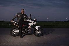 Moto Morini Granpasso 1200 and some randon dude   Http://Lumenatic.com  #motomorini #granpasso #1200 #enduro #adventure #italiandesign #motorrad #motorbike #motorcycle