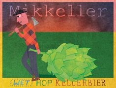 Mikkeller Beer Label Art by Keith Shore