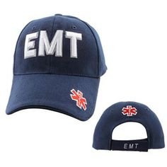 EMT Puff White Print Ball Cap - Blue
