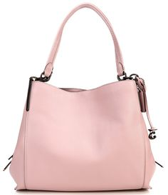 From COACH, the Dalton 31 Leather Shoulder Bag features: Polished pebble leatherSnap closureFabric liningInterior zip and multifunction pocketsCenter zip compartmentHandles with approx. Fall Handbags, Pink Handbags, Luxury Handbags, Fashion Handbags, Purses And Handbags, Fashion Bags, Pink Purses, Coach Handbags, Cheap Handbags