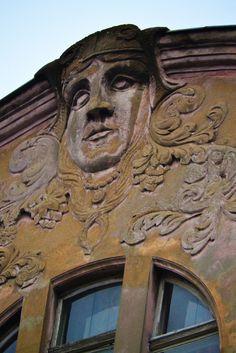 Poznan Poland, kamienica przy ul.Słowackiego 40 ze zdobieniami autorstwa Artura Wagnera [fot.Małgorzata Kolasa]