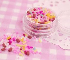 These cute and colourful plastic 100s & 1000s are perfect as sprinkles for your decoden, decoart projects and decoration of miniature sweets and desserts! They can even be used as nail art to add a touch of colour to your finger tips!