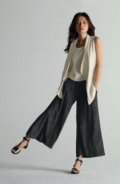 Eileen Fisher Shawl Collar Long Vest