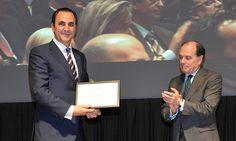 V Premios Castilla y León Económica. Premio de Honor: José Rolando Álvarez, presidente del Grupo Norte, y Tomás Villanueva, consejero de Economía y Empleo de la Junta de Castilla y León.