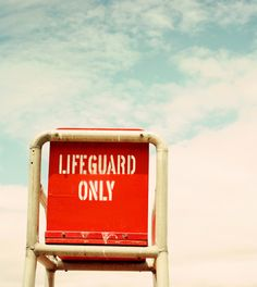 Lifeguard chair by Janis Nicolay (via Poppytalk) #lifeguard #red #beach