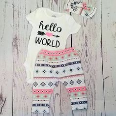 Hello world coming home set by SoCleverCraft on Etsy