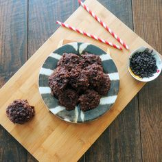The BEST Vegan Chocolate Chip Brownie Bites. Ever. made w almond meal