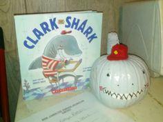 """Clark"" book character pumpkin."