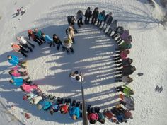 1 heart, 1 cause, white cause with ProMax during a snowshoeing event on Sunday Shouf Cedar forest reserve