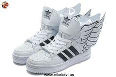 Adidas X Jeremy Scott Wings 2.0 Shoes White Black
