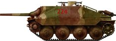 Jagdpanzer-38 Hetzer of an unknown PzjGr unit in Italy, 1945