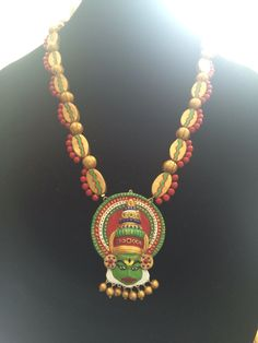 Terracotta Jewelry Terracotta necklace and jhumka by colorsofclay