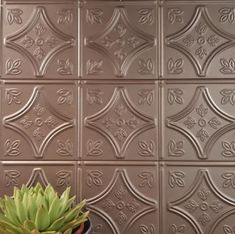Pressed Tin Metal Look Tiles Sydney Australia. Kitchen Spalashbacks & Bathroom Feature Tiles Vintage Bathrooms and kitchen walls. Wall And Floor Tiles, Wall Tiles, Copper Tile Backsplash, Pressed Metal, Feature Tiles, Vintage Bathrooms, Farmhouse Style Kitchen, Splashback, Metal Tins