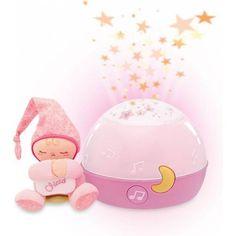 Muziekdoosje: Welterusten sterretjes is een projector (kan ook worden gebruikt als lampje) en de ontspannende achtergrond muziek zorgen ervoor dat je kindje slaap krijgt en stelt je kindje gerust.  http://www.waparoo.com/nl/chicco-chicco-goedenacht-projector-roze.html