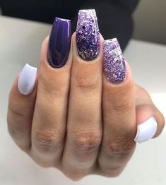 Purple Nails Art Design Ideas - Page 44 of 62 - Latest Fas.Purple Nails Art Design Ideas – Page 44 of 62 – Latest Fashion Trends For - Purple Nail Art, Purple Nail Designs, Acrylic Nail Designs, Nail Art Designs, Acrylic Art, Black And Purple Nails, Black Nails, Sparkle Nails, Glitter Nail Art