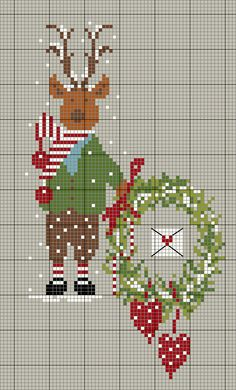 Hama Beads Christmas, Cross Stitch Christmas Ornaments, Xmas Cross Stitch, Cross Stitch Cards, Christmas Ornaments To Make, Christmas Embroidery, Christmas Cross, Handmade Christmas, Quilt Stitching