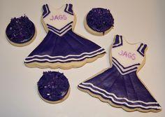 Purple Cheerleading Cookies
