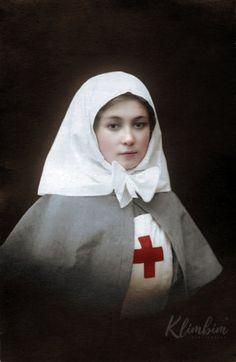 Сестра милосердия Мария. Фото 1914 г. Первая мировая.