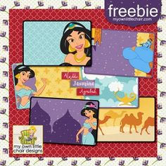 Aladdin journalers (Project Life or Hybrid) for digital scrapbooking or printing.