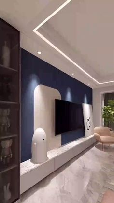If you want the warmth of a Montana cabin in your home every day of the year - Interior design projects videos House Ceiling Design, Ceiling Design Living Room, Bedroom False Ceiling Design, Tv Wall Design, Home Room Design, Home Interior Design, House Design, Drawing Room Ceiling Design, Simple False Ceiling Design