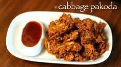 cabbage pakoda recipe, cabbage bhajiya, cabbage fritters with step by step photo/video. ideal party starters/appetizer or as evening snack with masala chai.