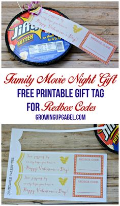 Give a Family Movie Night with Printable Gift Tags for Redbox Codes