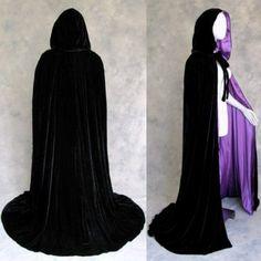Amazon.com: Lined Black-Purple Velvet Cloak - Medieval Renaissance Victorian Costume by Artemisia Designs: Clothing