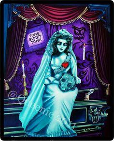 attic bride haunted mansion Queenie pocket full of posies