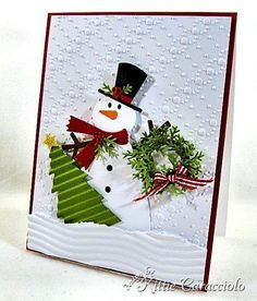 Snowman Ready For Christmas by kittie747 - Cards and Paper Crafts at Splitcoaststampers