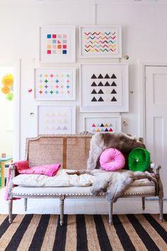 Wool On Canvas: Artwork by Jane Denton | decor8