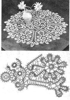 Picot Crochet, Crochet Mandala, Crochet Motif, Crochet Lace, Crochet Doilies, Crochet Edging Patterns, Bobbin Lace Patterns, Tatting Patterns, Crochet Diagram