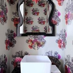 Great colors - intense while light and airy! Powder rooms are such a great way to have some crazy fun :)