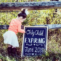 Only child expiring photo announcement