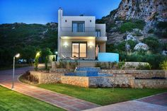 3 Bedrooms, 3 Bathrooms, 300m from the Beach, Sea View, Peaceful Location Sirokko Holiday Villa in Nopigia, Kissamos Area, Chania, Crete. In the heart of an olive grove overlooking the sea, is located this luxury villa, a small heaven forthose