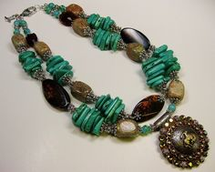 """Western Rodeo necklace by CayaCowgirlCreations 21"""" and 18"""" strands"""
