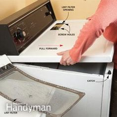 how to clean out the dryer