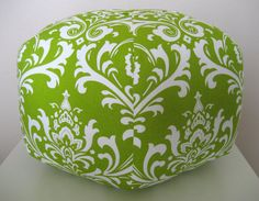 Ottoman. #chartreuse #ottoman