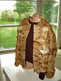 Trashion 2011 Exhibition - jacket made from recycled coffee filters (by Urban Woodswalker via Flickr)