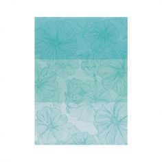 Strofinaccio So bloom Turquoise 70x50 100% cotone