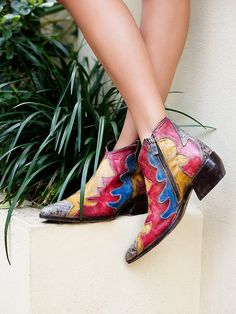 Free People Painted Bird Western Boot, £450.00