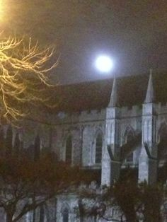 Full Moon over St Patrick's Cathedral (2)
