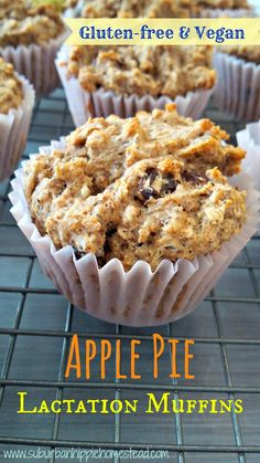 Suburban Hippie Homestead: Vegan Apple Pie Lactation Muffins #glutenfree