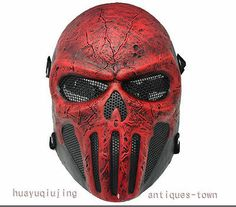 Airsoft Protective Full Face Wire Mesh Skull Punisher Mask Costume Paintball | eBay
