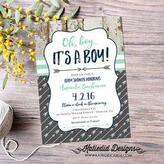 Baby Boy Sprinkle Invitations New Tribal Baby Shower Invitation Boho Chic Oh Boy Arrow Sprinkle Arrow Baby Shower, Tribal Baby Shower, Grey Baby Shower, Boy Sprinkle Invitations, Baby Shower Invitations For Boys, Baby Boy Sprinkle, Baby Showers Juegos, Bebe Shower, Rustic Baby
