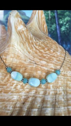 Blue Opal Choker Necklace by PrettyStoneCreations on Etsy