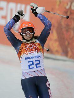 Winter USA Olympian   Julia Mancuso   Bronze in Women's Super-Combined Alpine Skiing   2014 Sochi, Russia
