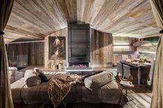 Homeadore luxury rooms, modern rustic homes, luxury modern homes, cabin int Luxury Modern Homes, Modern Rustic Homes, Luxury Rooms, Luxury Homes Interior, Home Interior, Interior Architecture, Interior Design, Home Sofa, Grey Pictures