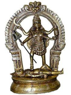 Hindu Goddess Kali Maa Brass Statue Figurine Meditation Altar Idol 10 by Mogul Interior, http://www.amazon.com/dp/B00C0OKPHC/ref=cm_sw_r_pi_dp_-Svurb0VQKFEK